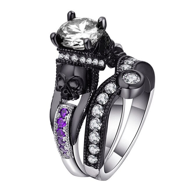 The King of Death Ring 11 / purple white - Cradle Of Goth
