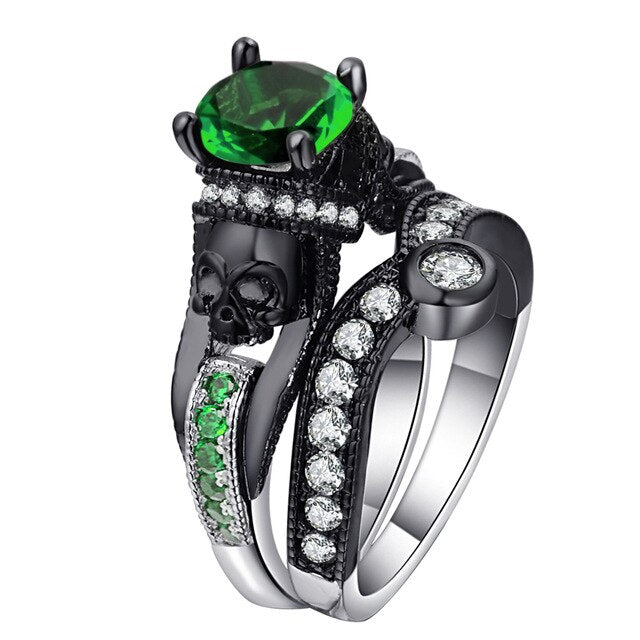 The King of Death Ring 11 / full green - Cradle Of Goth