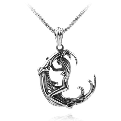Moon Goddess Necklace  - Cradle Of Goth