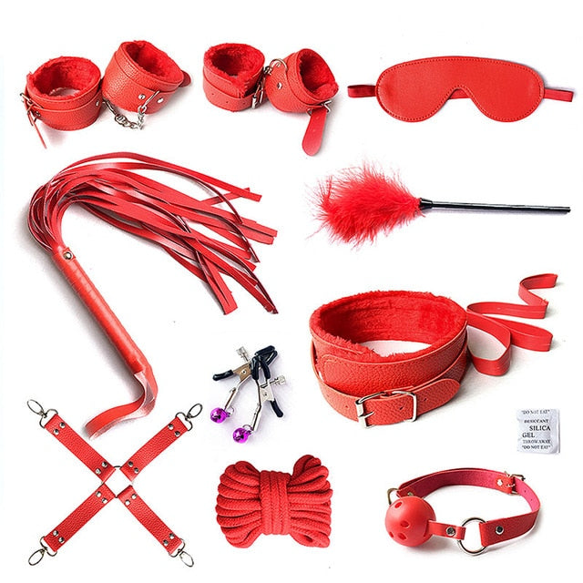 Kinky Set (10 pieces) Red - Cradle Of Goth