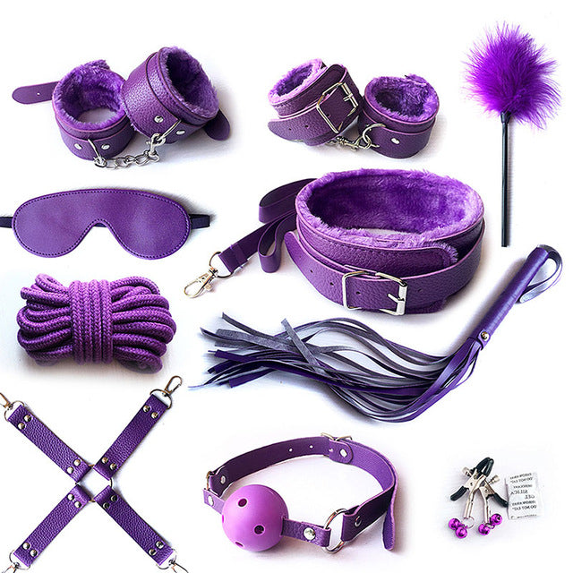 Kinky Set (10 pieces) Purple - Cradle Of Goth