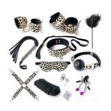 Kinky Set (10 pieces) Leopard - Cradle Of Goth