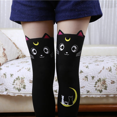 Curious Kitties Tights  - Cradle Of Goth