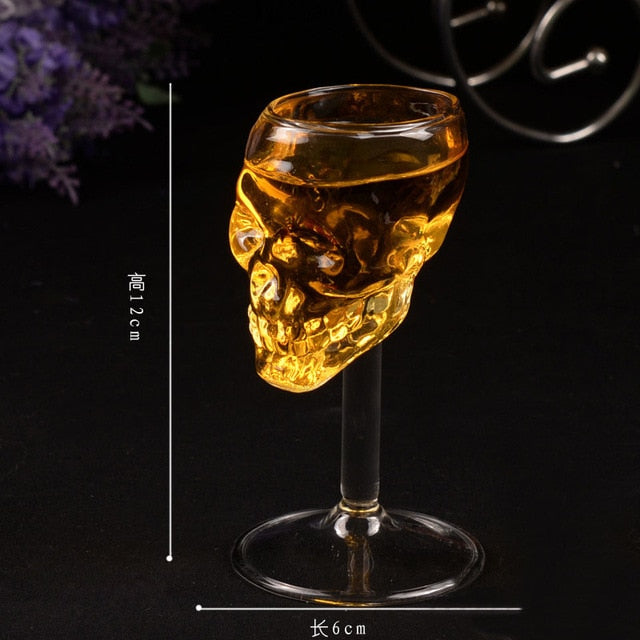 Crystal Skull Glass 12cm 1 - Cradle Of Goth