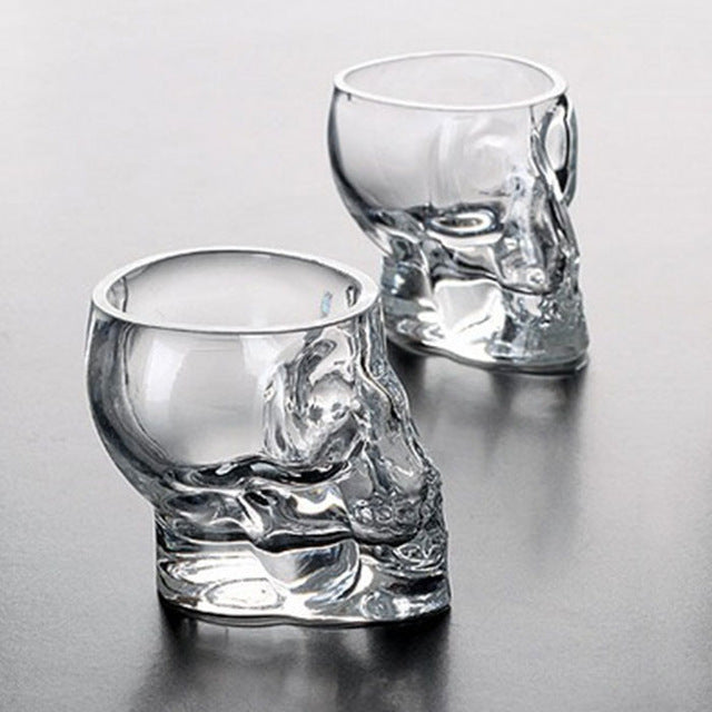 Crystal Skull Glass 7.3 cm - Cradle Of Goth