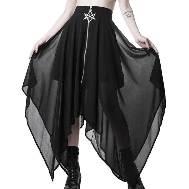 Elvira's Skirt Black / L - Cradle Of Goth