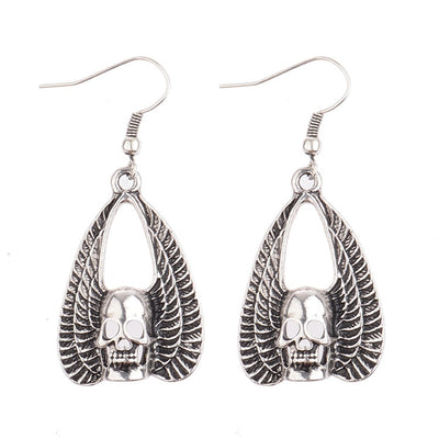 Angel Skulls Earrings  - Cradle Of Goth
