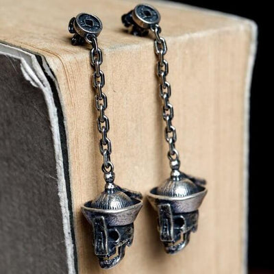 Dangling Skulls (Silver)  - Cradle Of Goth