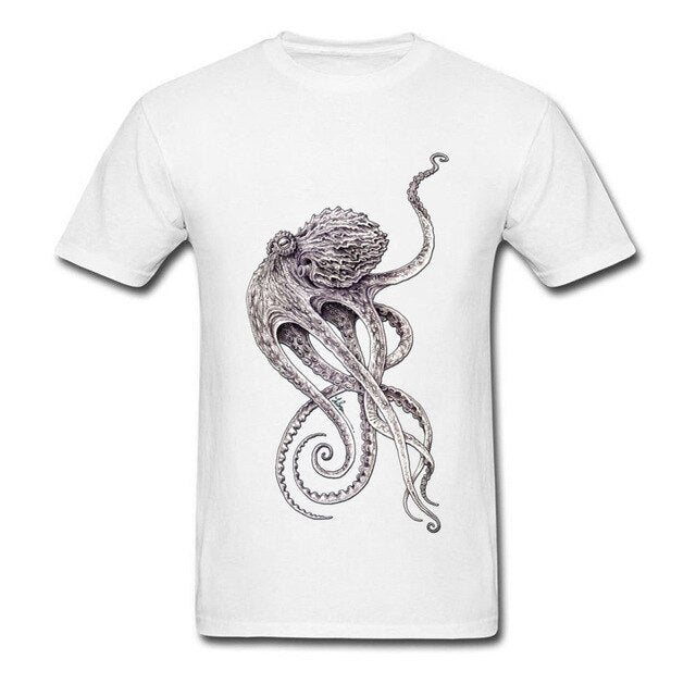 Lord Cthulhu T-shirt White / XS - Cradle Of Goth