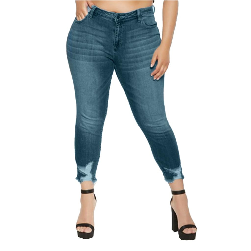 Plus Size Stretch Slim Denim Jeans
