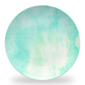 Watercolor Teal Plate