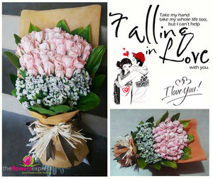 3 Dozens Light Pink Roses Bouquet