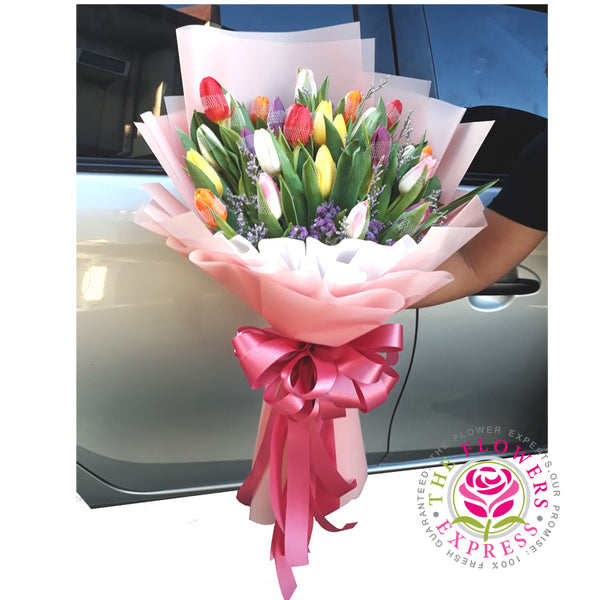 Bright Spark Tulip Bouquet