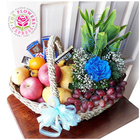 Refreshing Blue Fruit Basket