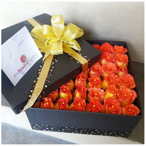 Sun Rose Flower Gift Box