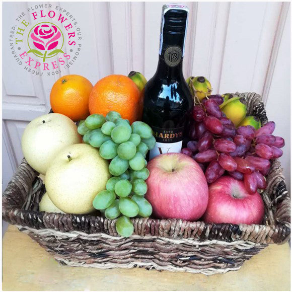SET E – Fruit Basket with Red Wine