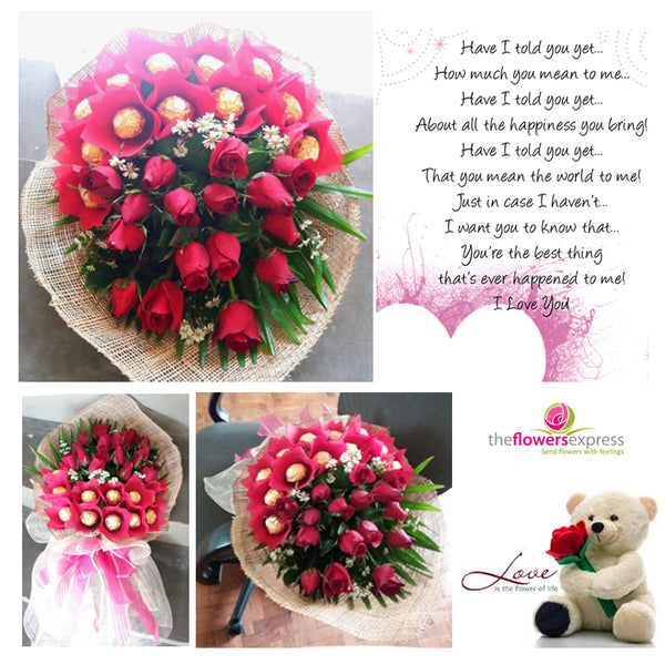 1 Dozen of Ferrero with Roses