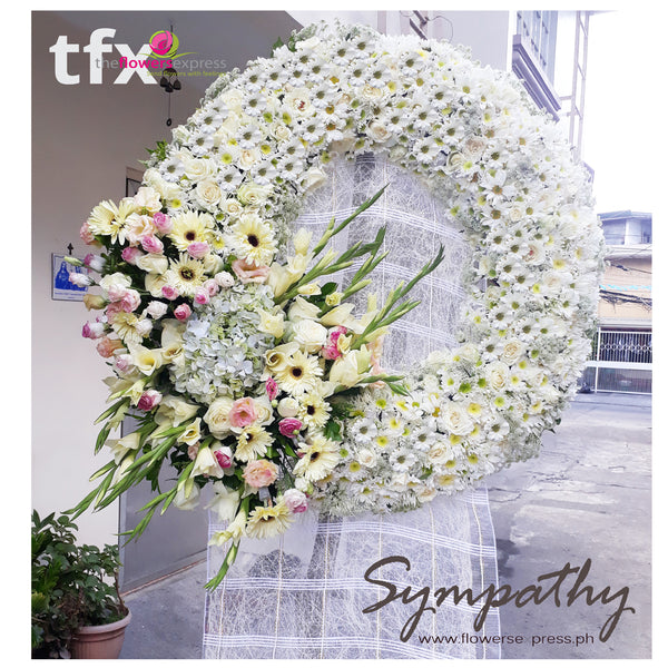 Classic Fireside Sympathy Flowers