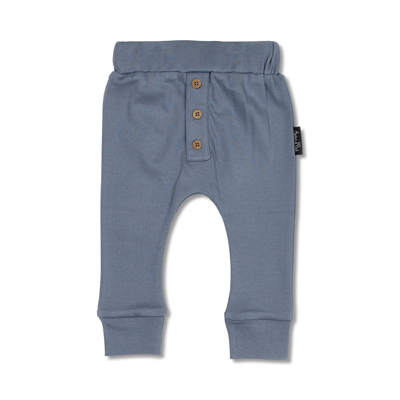 Button Slouch Pants | Navy