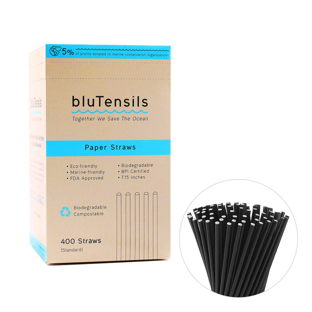 Paper Straw - Standard (Black) / 400 pieces