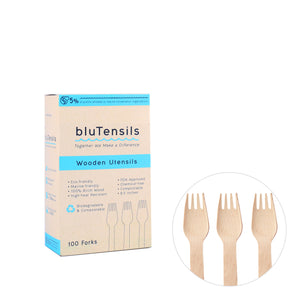 Wooden Utensils - Forks / 100 Pieces
