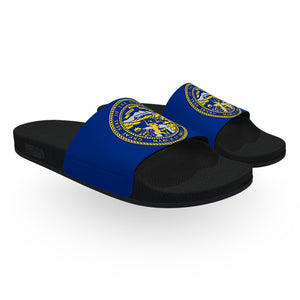 Nebraska State Flag Slide Sandals