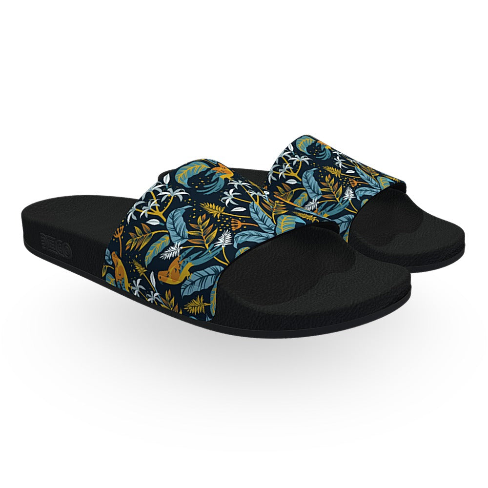 Tropical Birds Slide Sandals