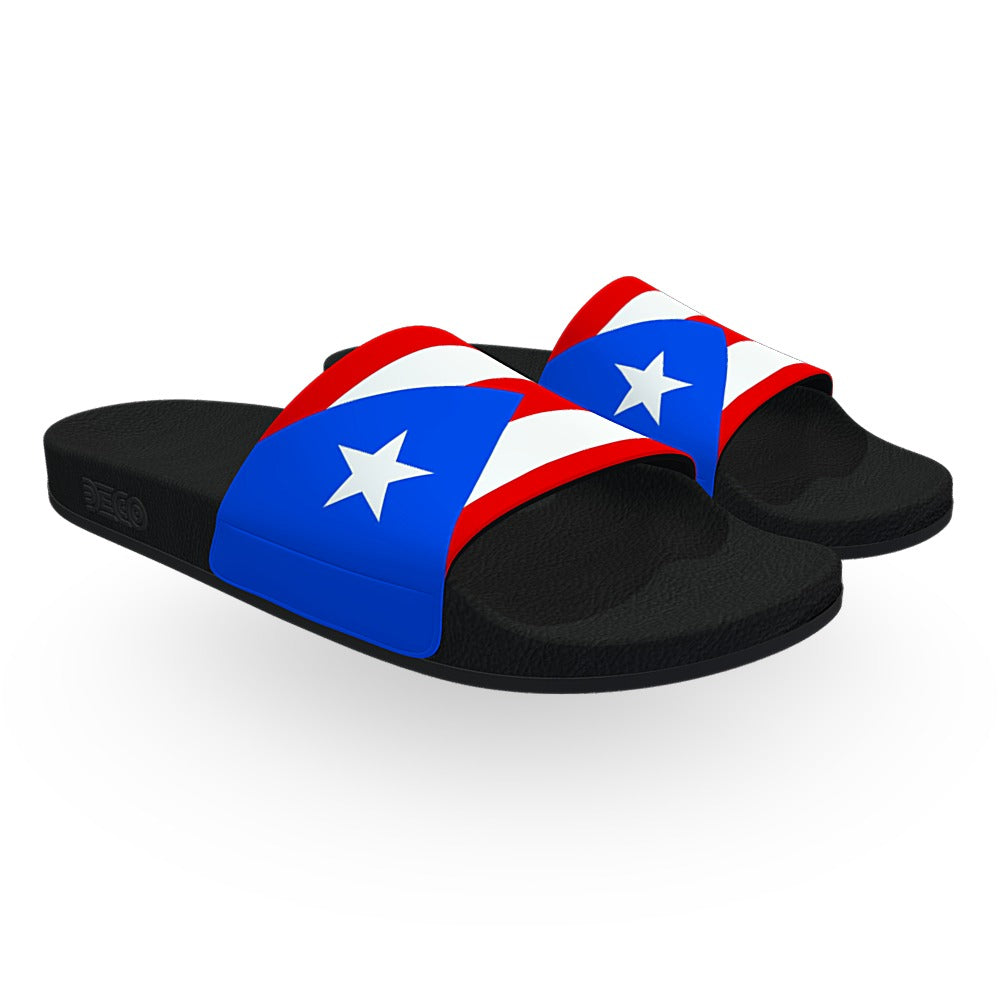 Puerto Rico Flag Slide Sandals