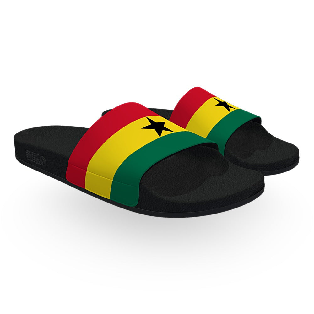 Ghana Flag Slide Sandals