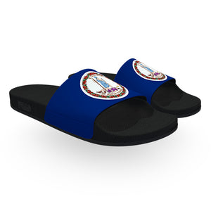 Virginia State Flag Slide Sandals