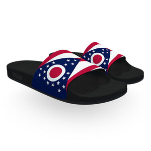 Ohio State Flag Slide Sandals