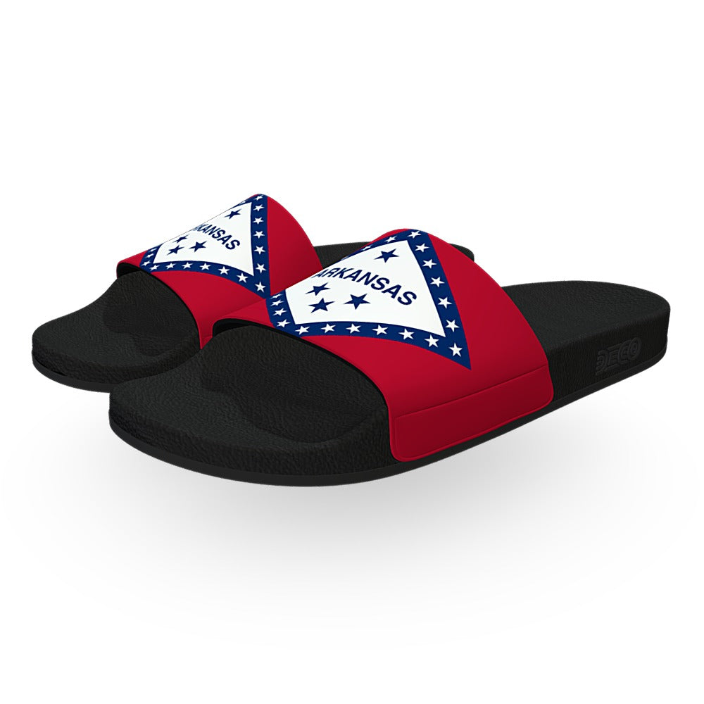Arkansas State Flag Slide Sandals