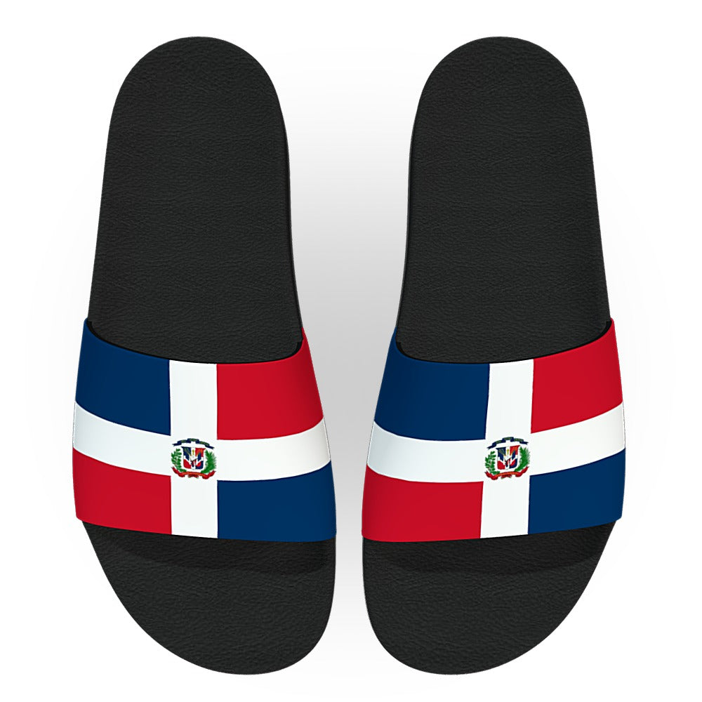 Dominican Republic Flag Slide Sandals