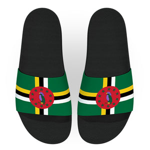 Dominica Flag Slide Sandals