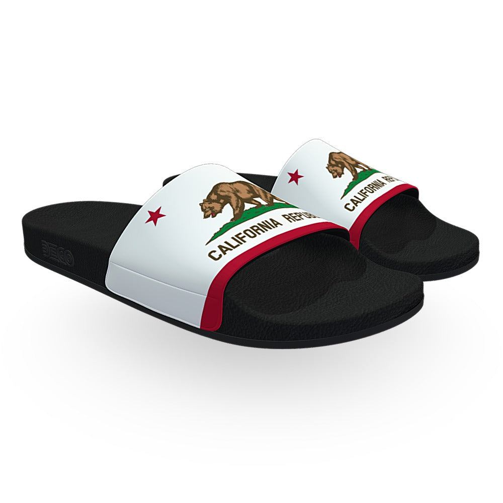 California State Flag Slide Sandals
