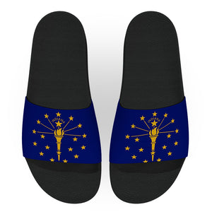 Indiana State Flag Slide Sandals