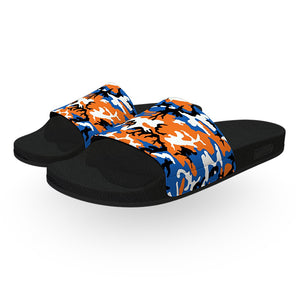 Orange and Blue ERDL Camouflage Slide Sandals