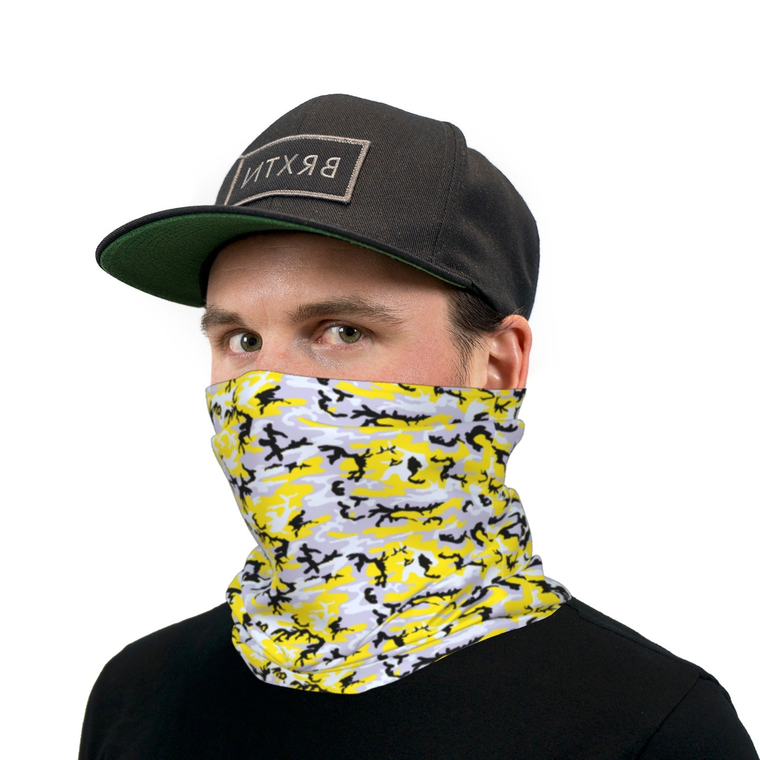 Yellow and Black ERDL Camouflage Neck Gaiter Face Mask