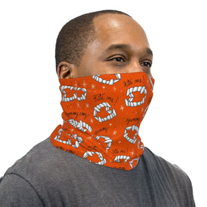 Orange Bite Me! Neck Gaiter Face Mask