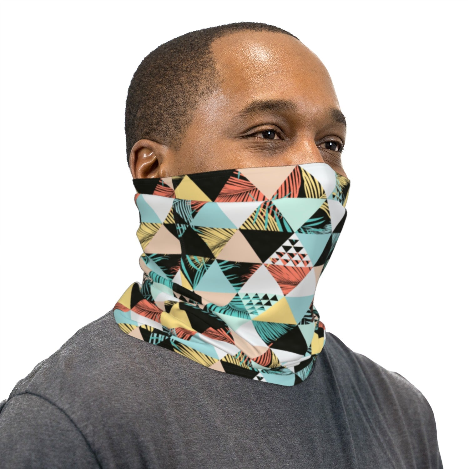 Rad Beach Pattern Neck Gaiter Face Mask