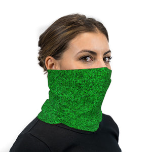 Green Turf Grass Neck Gaiter Face Mask