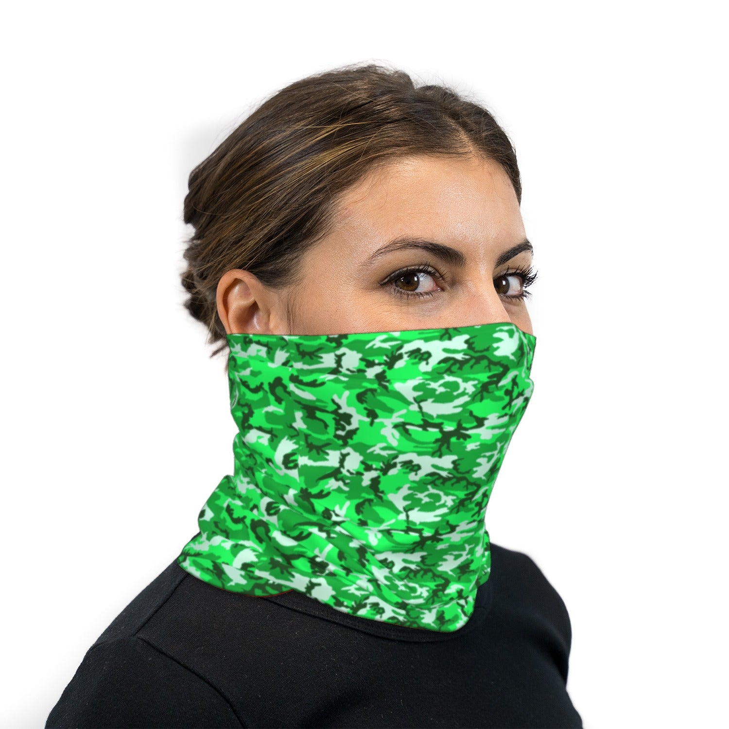 Lime Green ERDL Camouflage Neck Gaiter Face Mask