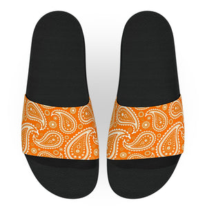 Orange and White Bandana Slide Sandals