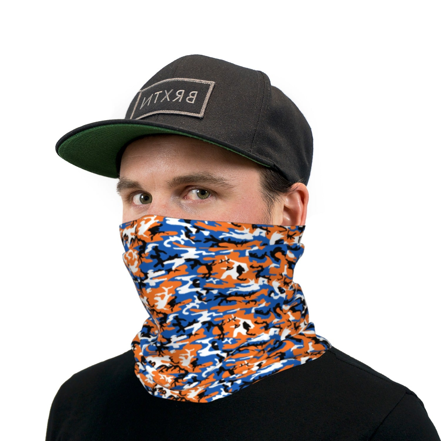 Orange and Blue ERDL Camouflage Neck Gaiter Face Mask