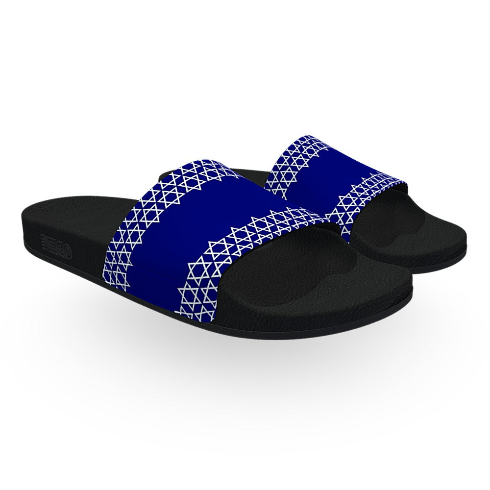 Monogrammed Blue and White Star of David Hanukkah Slides