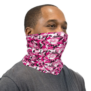Pink and Black ERDL Camouflage Neck Gaiter Face Mask