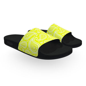 Yellow Bandana Slide Sandals