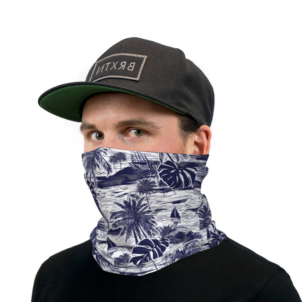 Tropical Sketch Neck Gaiter Face Mask