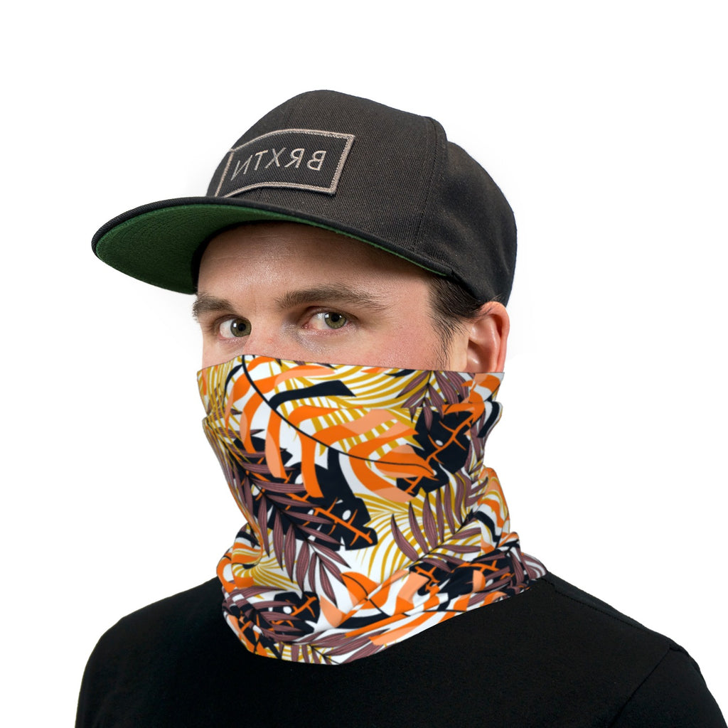 Fall In The Tropics Neck Gaiter Face Mask
