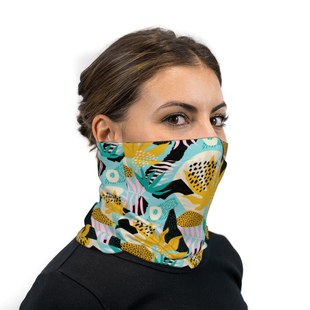 Modern Hawaiian Neck Gaiter Face Mask